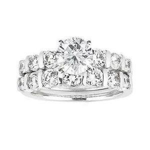 1.5 Ct. diamonds ring white gold engagement set di